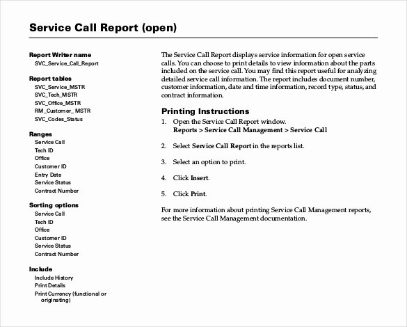 Field Service Report Template Elegant Sample Service Report Template 30 Free Word Pdf Download