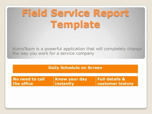 Field Service Report Template Luxury Field Service Report Template