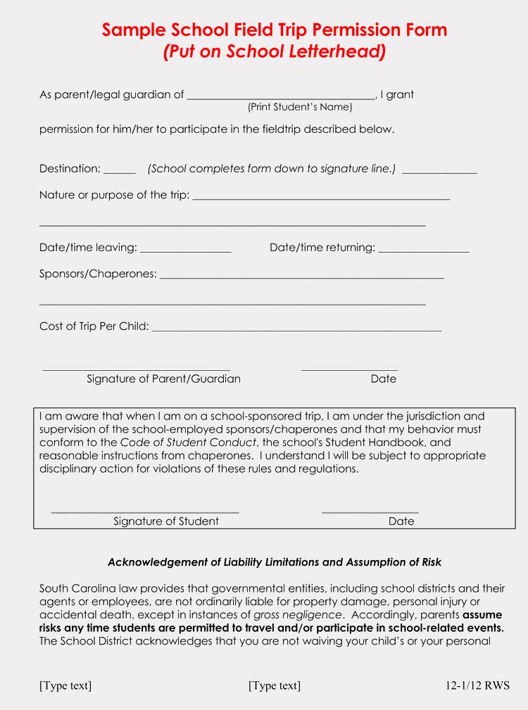 Field Trip Permission Slip Pdf Beautiful Blank Field Trip Permission Slip Templates & forms Word Pdf