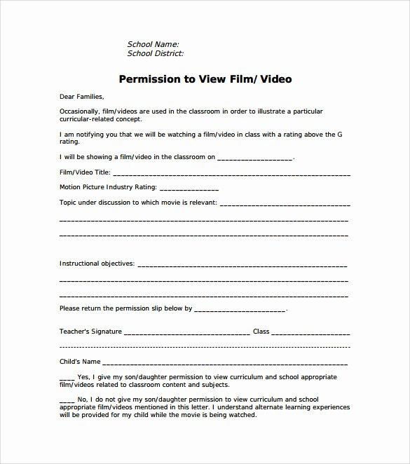 Field Trip Permission Slip Pdf Best Of Free 14 Permission Slip Samples In Word