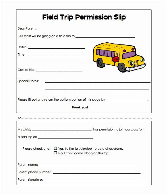 Field Trip Permission Slip Pdf Elegant Slip Template 13 Free Word Excel Pdf Documents Download