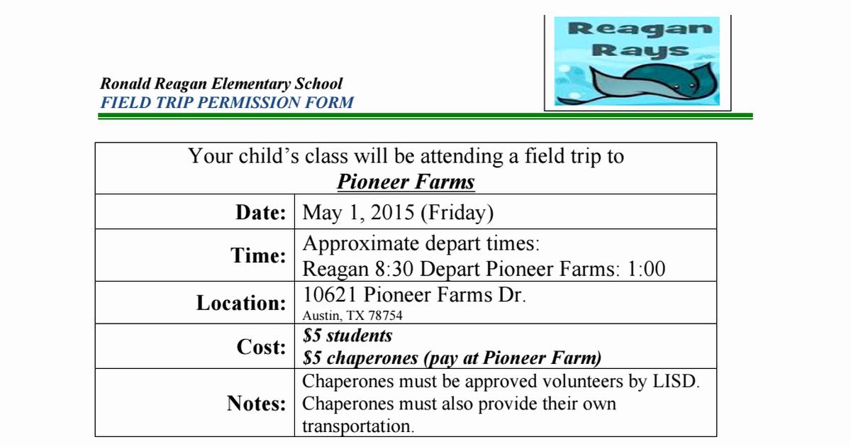 Field Trip Permission Slip Pdf Fresh 4th Grade Weekly Happenings
