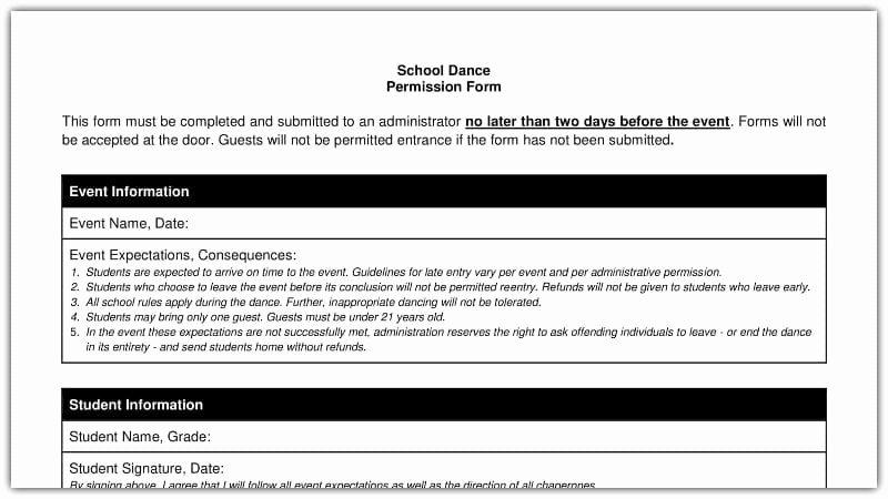 Field Trip Permission Slip Pdf Inspirational Free Field Trip and School Permission forms Templates Weareteachers