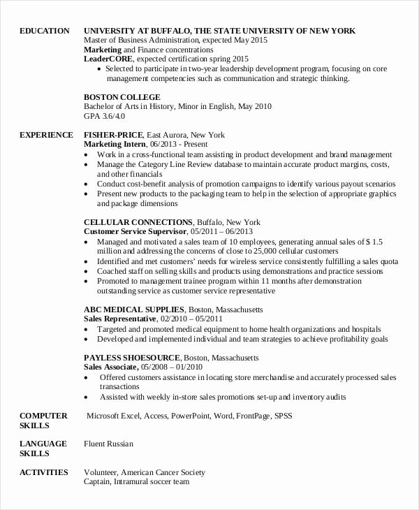 Finance Resume Template Word Awesome 28 Finance Resume Templates Pdf Doc