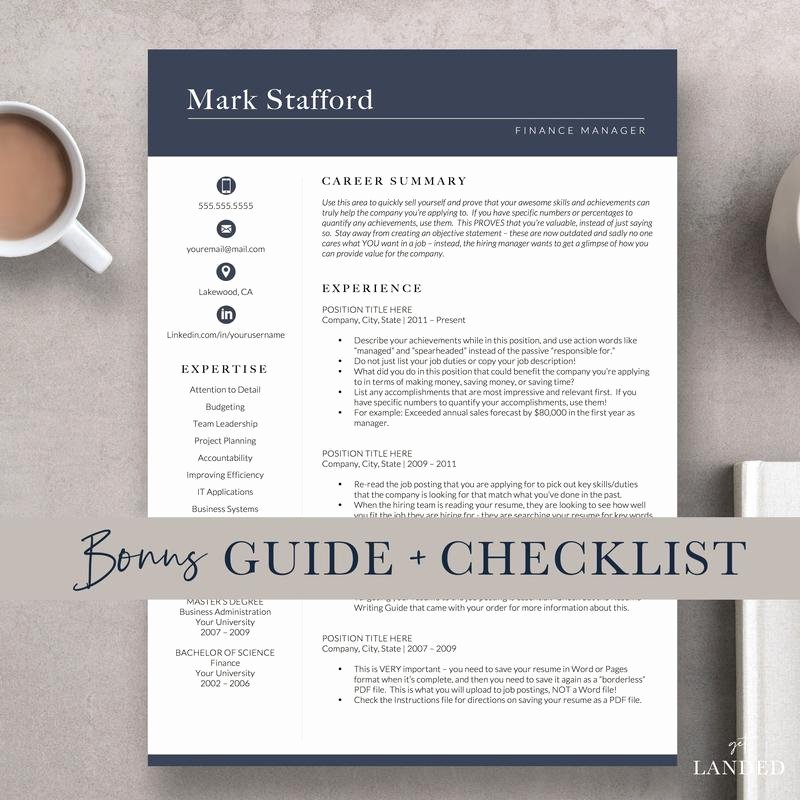 Finance Resume Template Word Awesome Finance Resume Template for Word and Pages