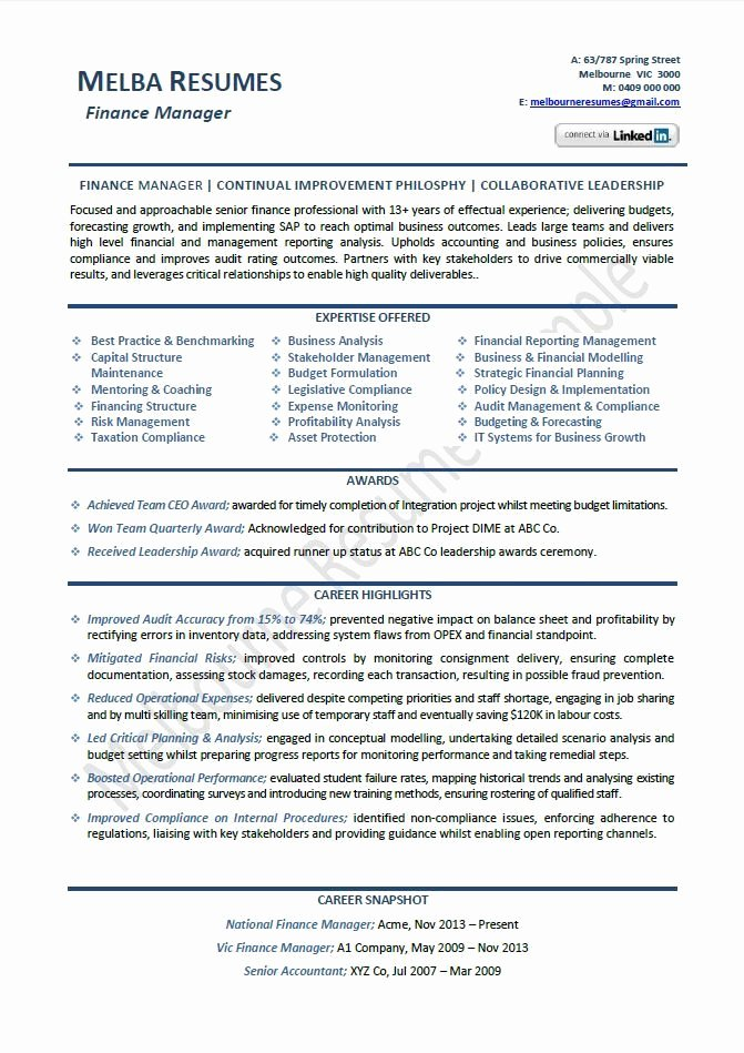 Finance Resume Template Word Inspirational Finance Manager Resume Example Template Director Sample Samples Across All Industr