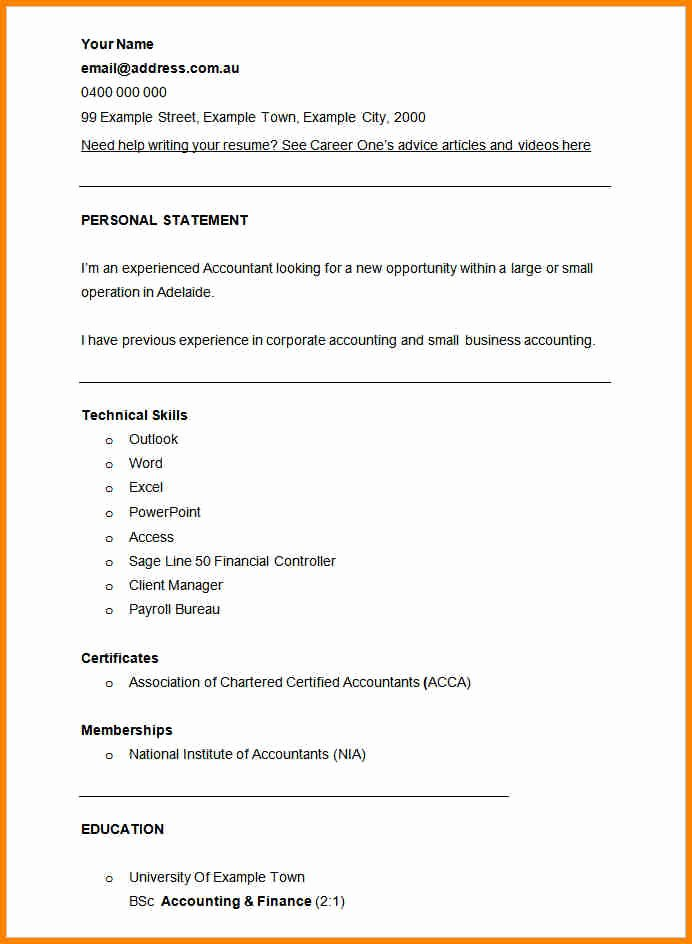 Finance Resume Template Word Lovely 12 Example Of Accountant Cv