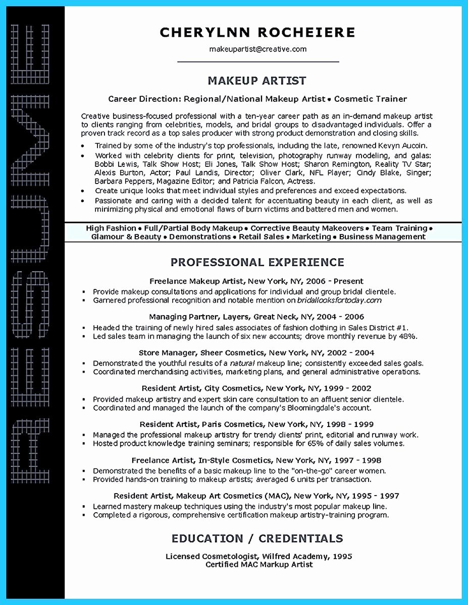 Fine Artist Resume Template Beautiful Artist Resume Template that Look Professional