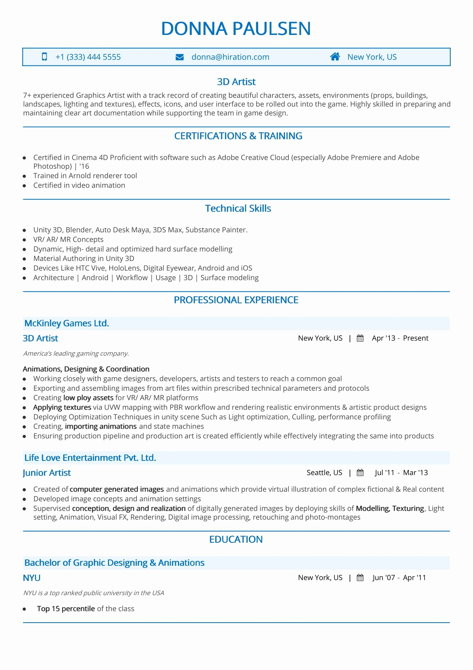 Fine Artist Resume Template Fresh Artist Resume the 2019 Guide to Art Resume with Samples & Examples