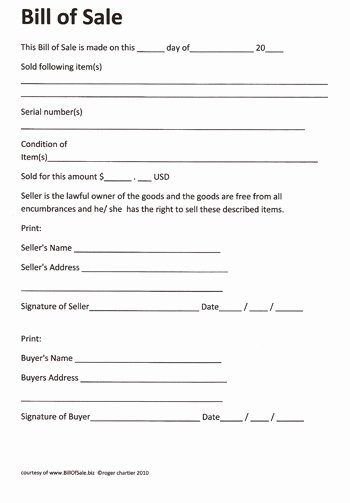 Firearm Bill Of Sale Florida Beautiful Free Printable Rv Bill Of Sale form form Generic
