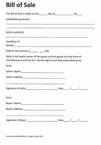 Firearm Bill Of Sale Florida Beautiful Free Printable Rv Bill Of Sale form form Generic