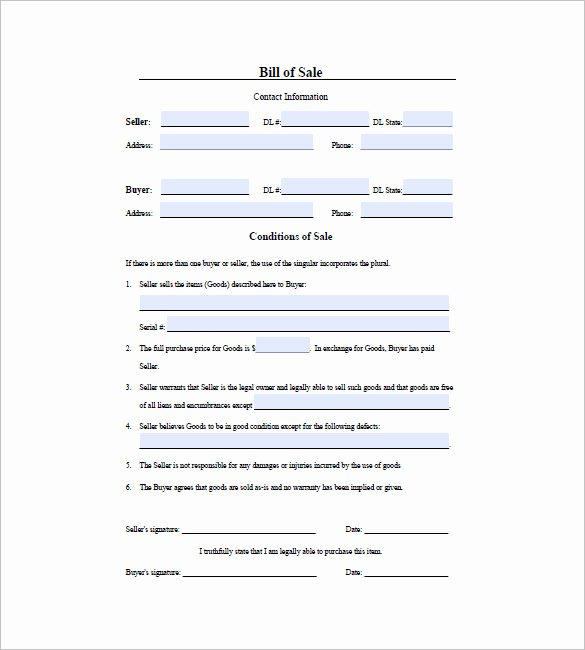 Firearm Bill Of Sale Florida Beautiful Gun Bill Of Sale Template – 10 Free Word Excel Pdf format Download
