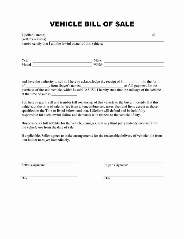 Firearm Bill Of Sale Florida Inspirational Download Bill Sale form Pdf
