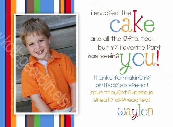 First Birthday Thank You Cards Beautiful Thank You Card Wording Let S Party
