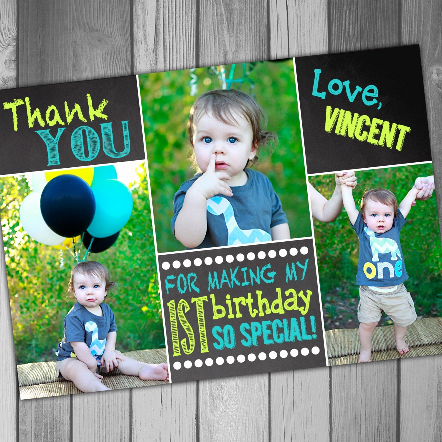 First Birthday Thank You Cards Elegant Thank You Cards First Birthday Thank You Card 1st Birthday