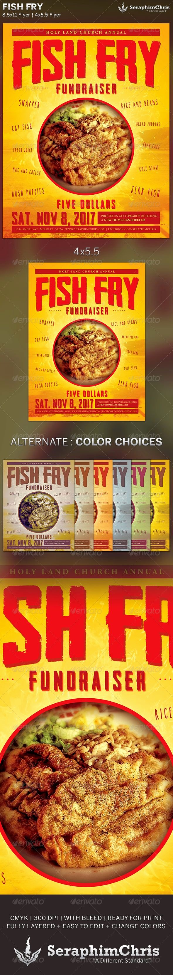 Fish Fry Flyer Template Awesome Fish Fry event Flyer Template is Designed for events Parties that Need A Modern Presentation