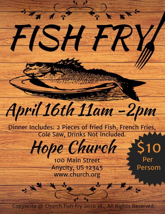 Fish Fry Flyer Template Beautiful Fish Fry Template