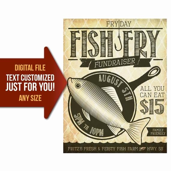 Fish Fry Flyer Template Elegant Friday Fish Fry Fish Fry Church Fundraiser Benefit Flyer