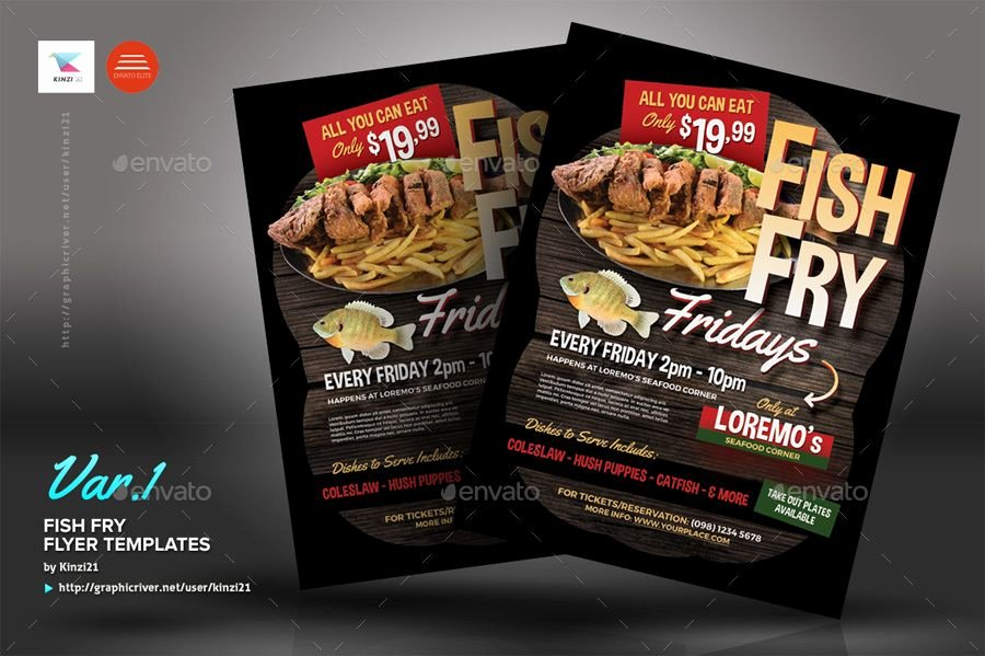 Fish Fry Flyer Template Fresh Fish Fry Flyer Templates