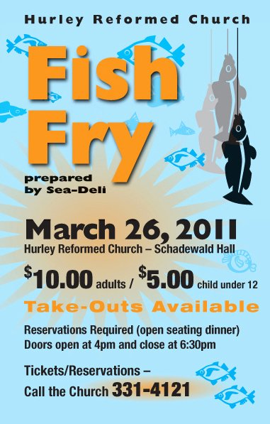 Fish Fry Flyer Template Fresh Hurley Reformed Church