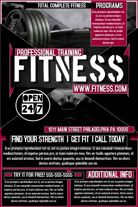 Fitness Flyer Template Free Best Of Fitness Flyer Template