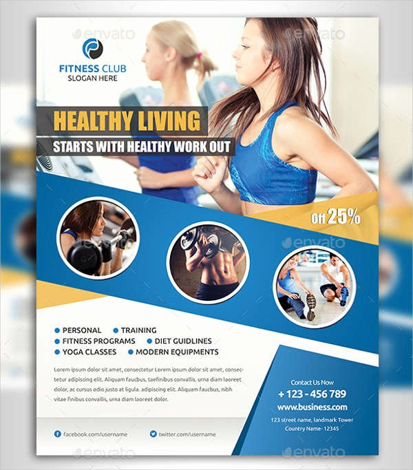 Fitness Flyer Template Free Elegant 63 Fitness Flyer Examples Psd Ai Eps Word formats