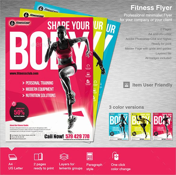 Fitness Flyer Template Free Fresh 18 Fitness Flyers Psd Vector Eps Word Ai formats