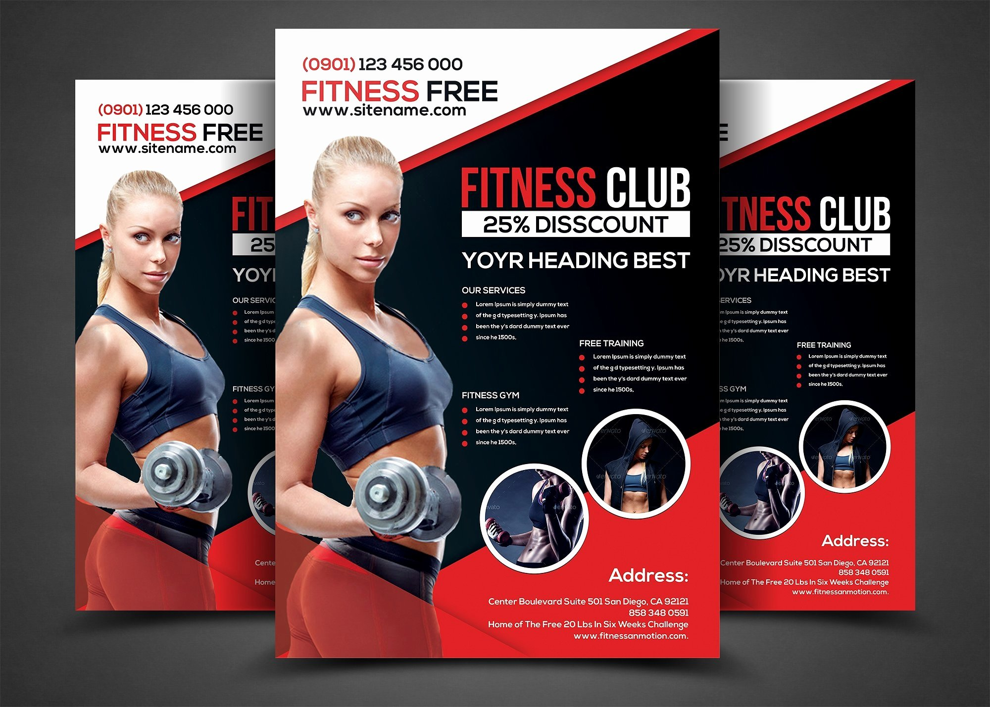 Fitness Flyer Template Free Inspirational 16 Gym Flyer Designs & Examples Psd Ai Word Eps Vector