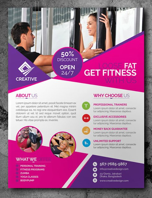 Fitness Flyer Template Free Inspirational Free Fitness Gym Flyer Template Psd