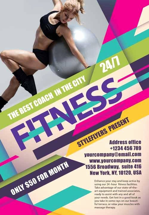 Fitness Flyer Template Free Lovely 80 Creative & Modern Free Business Flyers Templates Page 2 Of 2