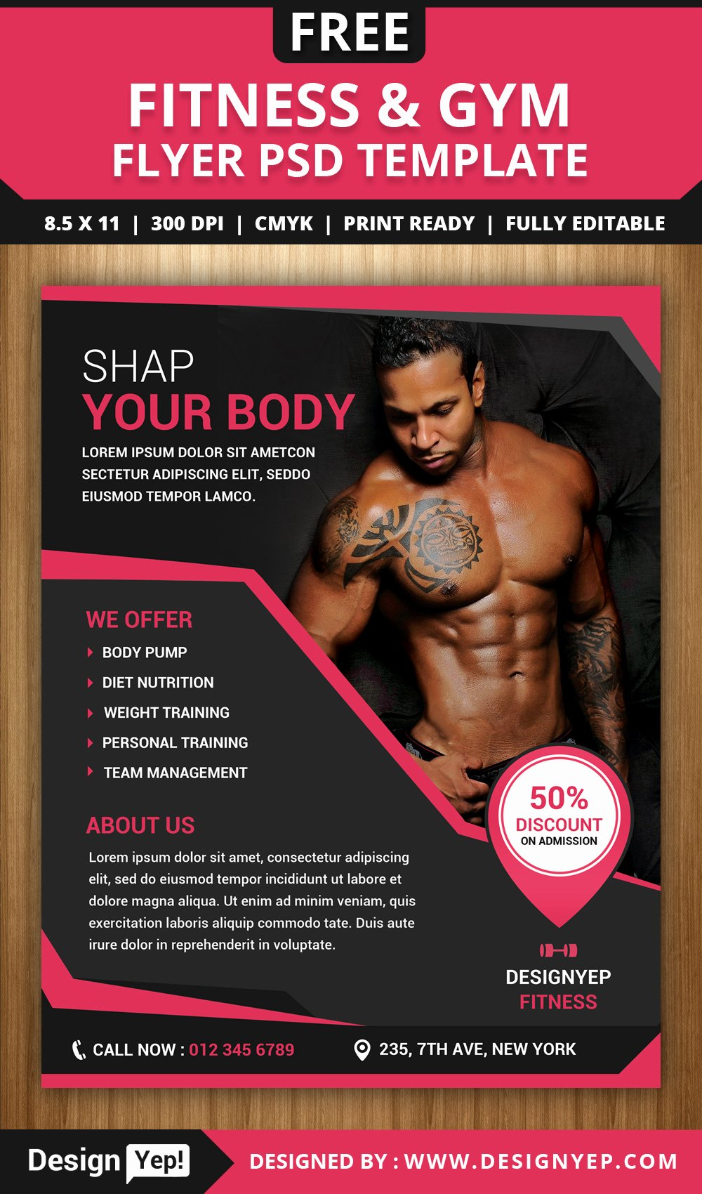 Fitness Flyer Template Free Lovely Free Fitness and Gym Flyer Psd Template Designyep