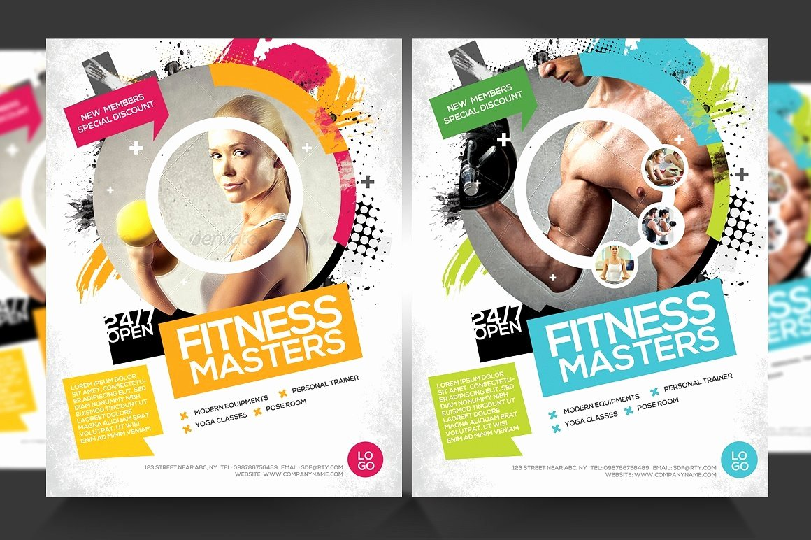 Fitness Flyer Template Free Luxury 16 Gym Flyer Designs & Examples Psd Ai Word Eps Vector