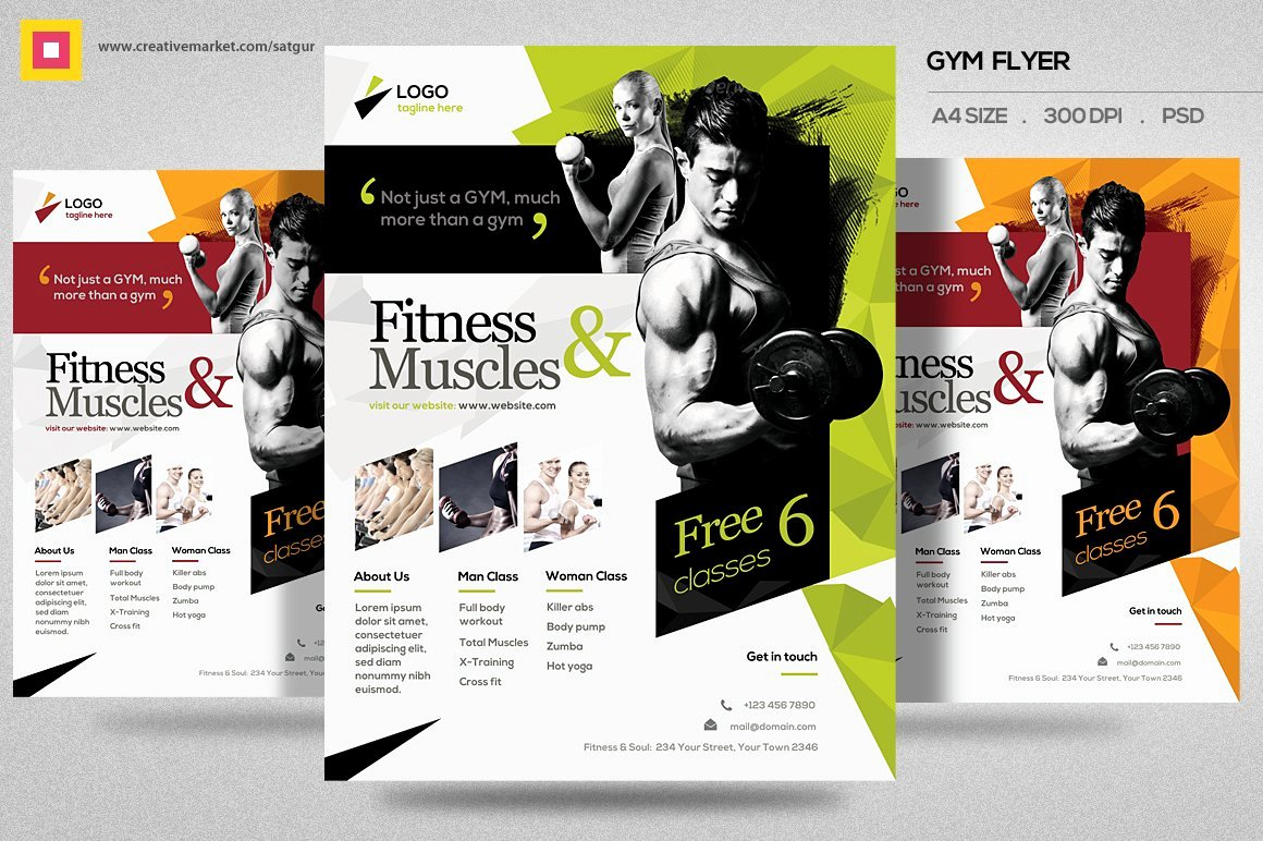 Fitness Flyer Template Free Luxury Fitness Flyer Gym Flyer V11 Flyer Templates Creative Market