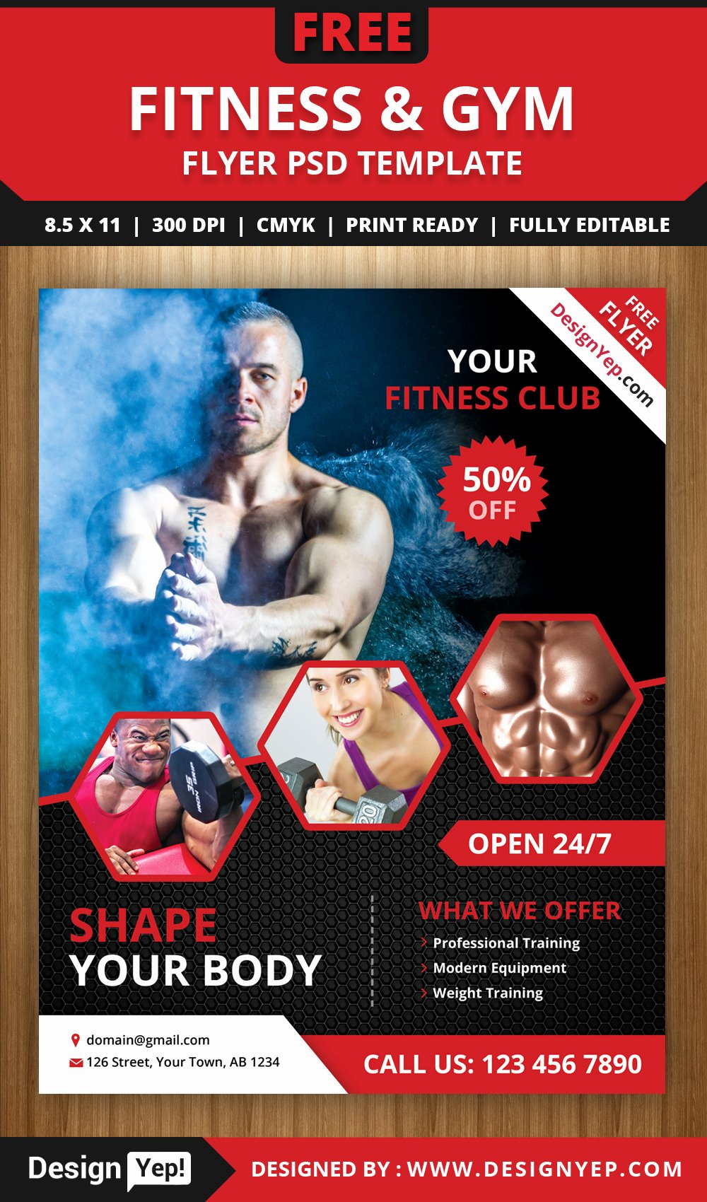 Fitness Flyer Template Free Luxury Free Fitness and Gym Flyer Psd Template Designyep