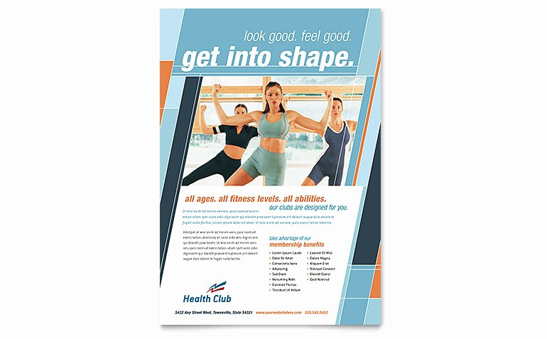 Fitness Flyer Template Free Luxury Health & Fitness Gym Flyer Template Word & Publisher