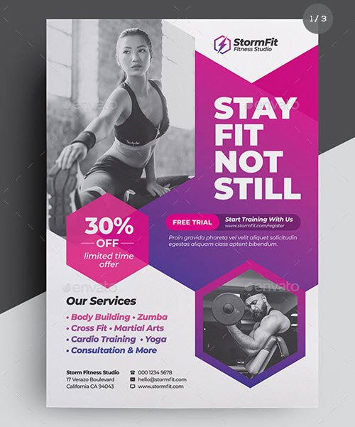 Fitness Flyer Template Free New 30 Premium Free Sports Flyer Psd Template for Sports and Fitness Business