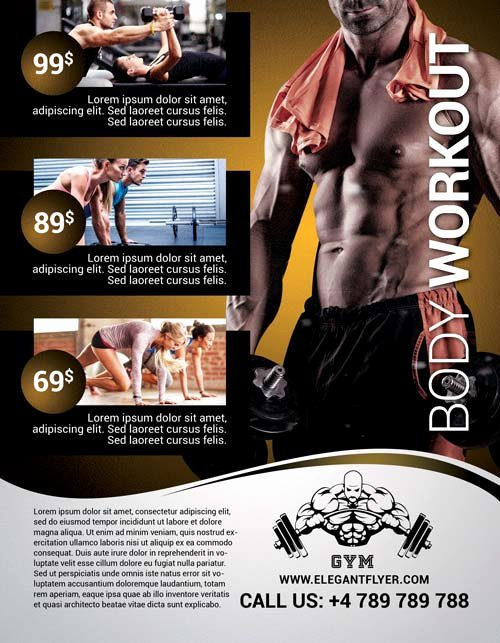 Fitness Flyer Template Free New Body Workout Free Flyer Template Download Club and Party Flyer for Shop