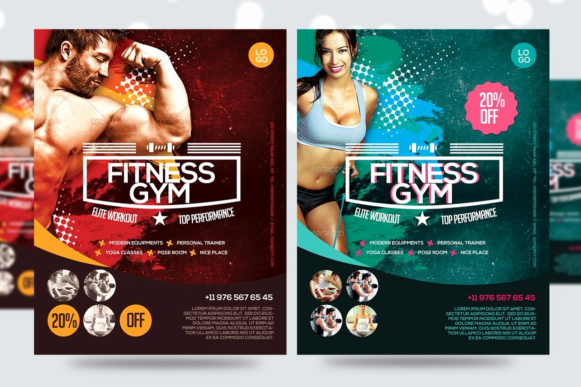 Fitness Flyer Template Free New Fitness Flyer Gym Flyer V7 Flyer Templates Creative Market