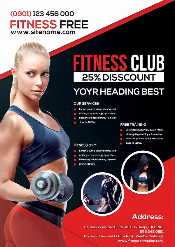 Fitness Flyer Template Free Unique 58 Fitness Flyer Templates Psd Word Ai Eps Vector formats