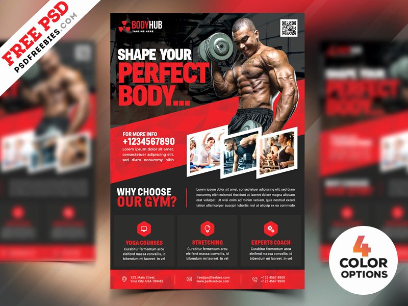 Fitness Flyer Template Free Unique Fitness Gym Flyer Psd Templates Bundle