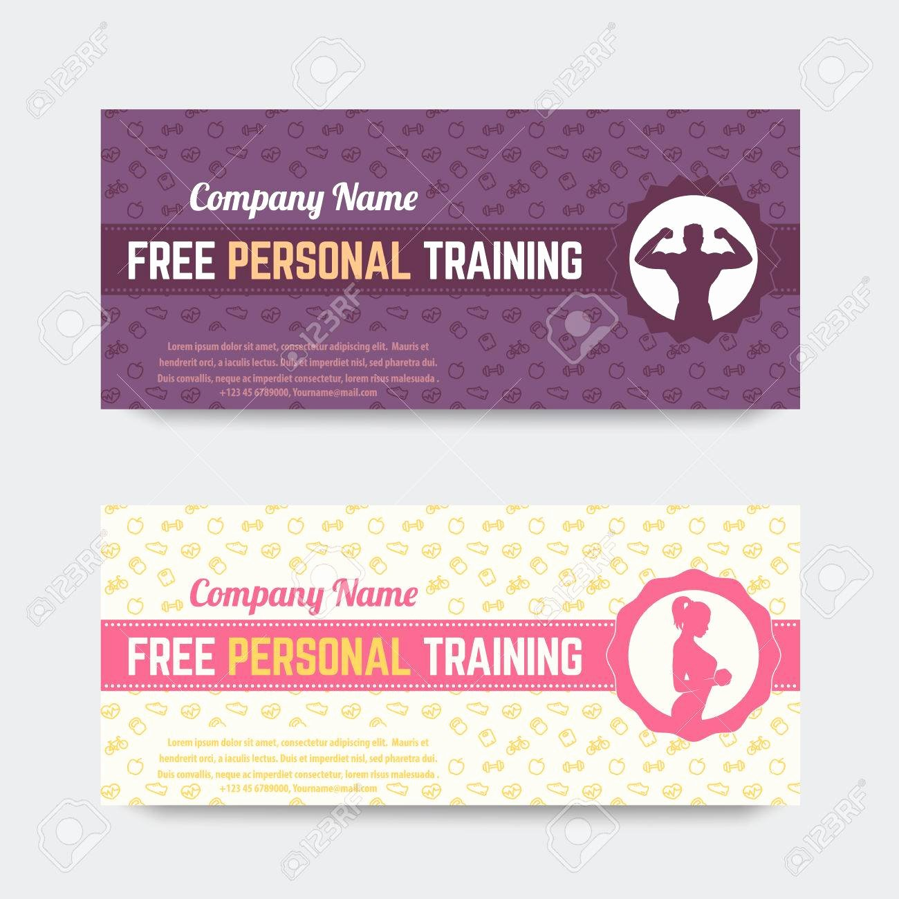 Fitness Gift Certificate Template Awesome Gift Certificate Template Personal Training
