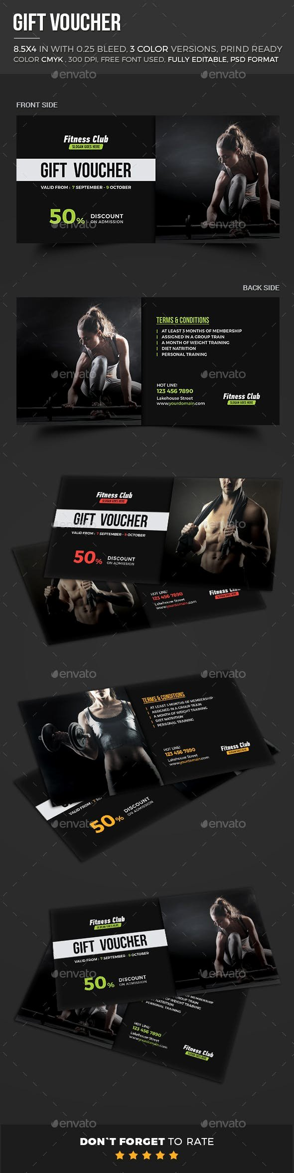 Fitness Gift Certificate Template Fresh Fitness Gift Voucher by themedevisers