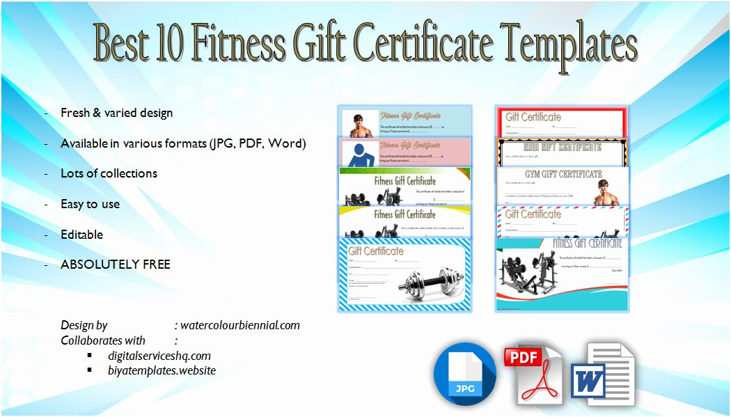 Fitness Gift Certificate Template Lovely Most Improved Student Certificate 10 Template Designs Free