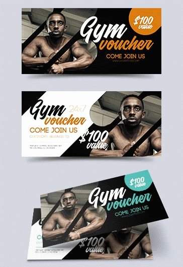 Fitness Gift Certificate Template Luxury Fitness Gym – Free Flyer Psd Template – by Elegantflyer