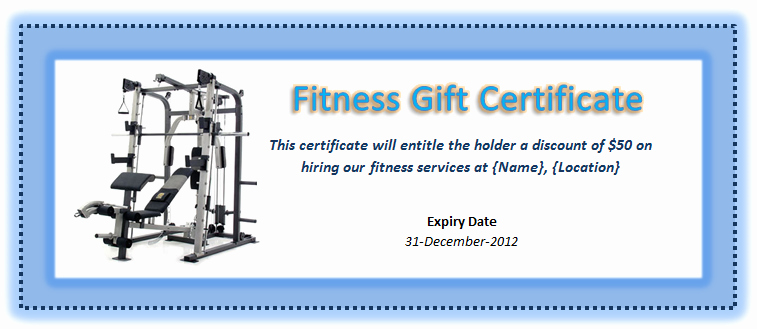Fitness Gift Certificate Template Luxury Pin by Mk Farooq On Certificate Designs Pinterest