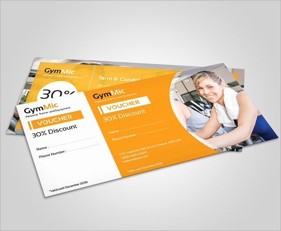 Fitness Gift Certificate Template New 25 Gift Voucher Templates Psd Ai Word
