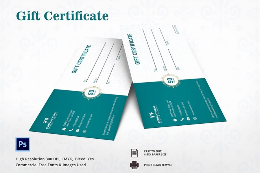 Fitness Gift Certificate Template New 7 Free Gift Certificate Spa Restaurant Travel