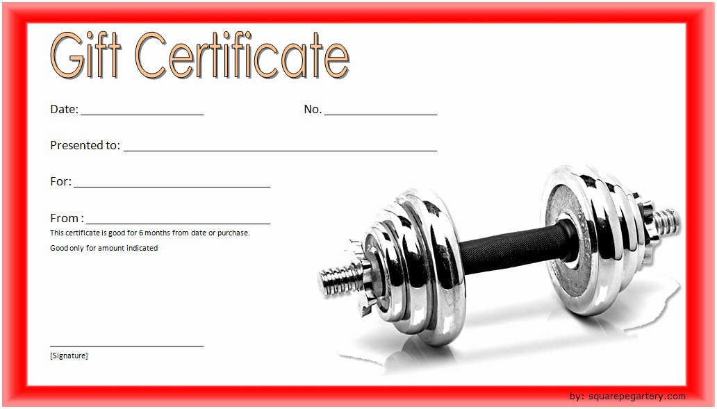 Fitness Gift Certificate Template New Editable Fitness Gift Certificate Templates [10 Best Designs]