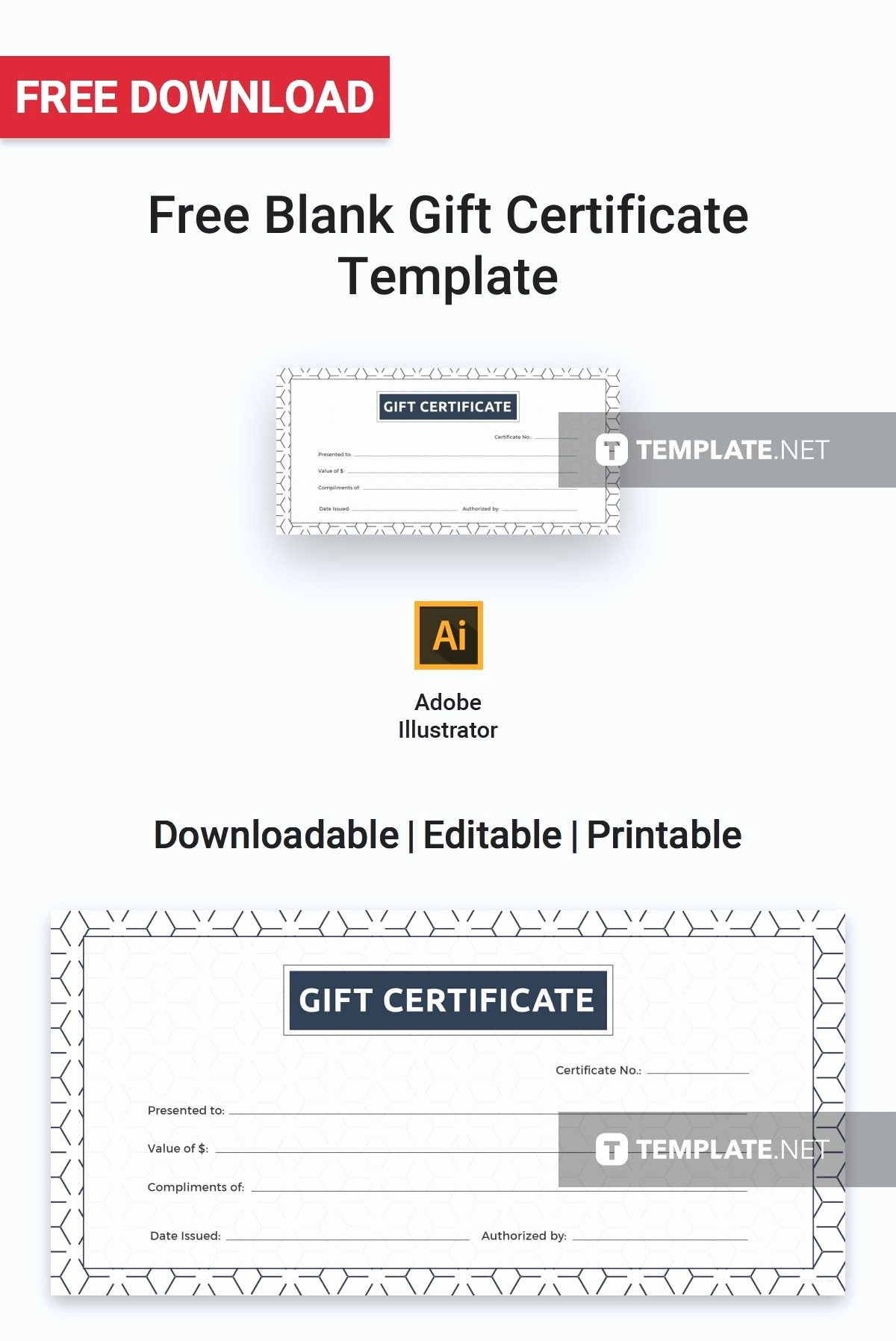 Fitness Gift Certificate Template New Free Blank Gift Certificate Certificate Templates & Designs 2019