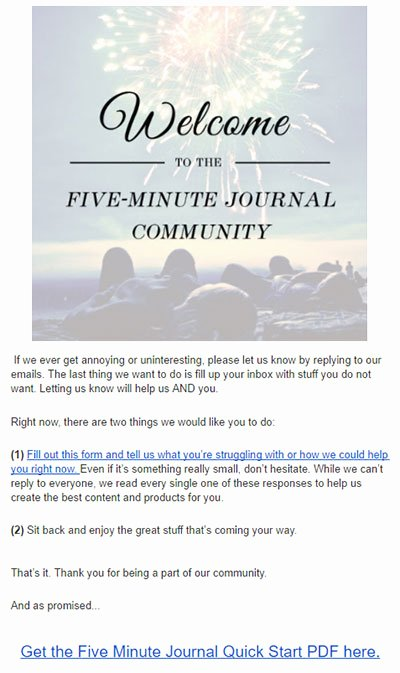 Five Minute Journal Template Unique 3 Clever Email Segmentation Strategies for E Merce Examples